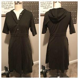 eshakti Dresses - eShakti Olive Knit Hoodie Dress